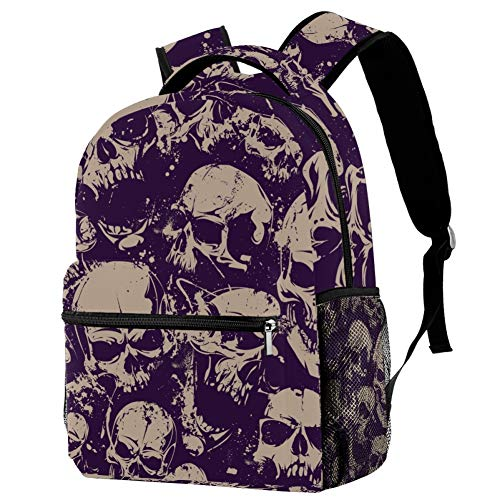 TIZORAX Vintage Dead Skull Backpack School Bag Bookbag Hiking Travel Rucksack