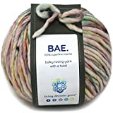 BAE by Living Dreams Yarn. Cuddly, Strong & Super Soft for Next to Skin Winter Knits. 100% Extrafine Merino Bulky Roving Yarn, Baby Carriage