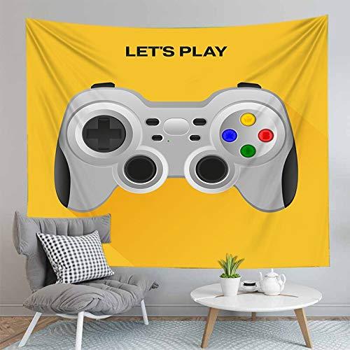 PPOU 3D Gamers Print Wall arazzo Modello esplosione Gamepad Neon decorazione murale sfondo panno arazzo panno A8 180x200cm