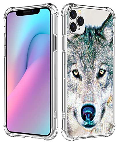 Case for iPhone 13 Pro Wolf - Case for iPhone 13 Pro - CCLOT Cover Compatible with iPhone 13 Pro Hand Painting Wolf Animal Design (TPU Protective Heavy Duty Bumper)