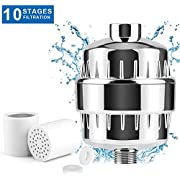CBoner 10-Stage Universal Shower Filter with 2 Replaceable Filter Cartridges -Bath Water Filter For Shower Head and Handheld Shower