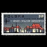 FGNDGEQN Colección de Sellos Polonia 1962 Varsovia Conferencia Sindical Sello Extracto