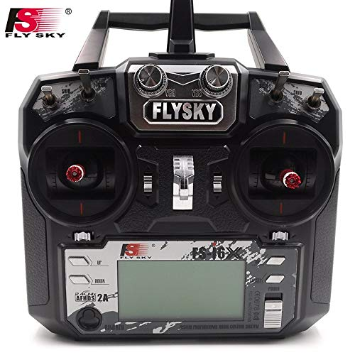 Flysky FS i6x 10CH 2.4G RC Transmitter Controller w/iA6B Receiver for RC Helicopter Multi-Rotor Drone(Model_2)