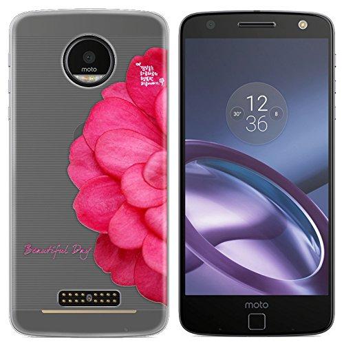 Easbuy Handy Hülle Soft Silikon Hülle Etui Tasche für Lenovo Motorola Moto Z MOTO Z Driod XT1650 Smartphone Cover Handytasche Handyhülle Schutzhülle