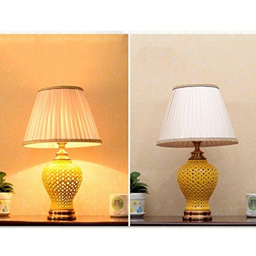 Tafellamp, gravure, hol, lamp van keramiek, bedlamp, dimbaar, LED, continental, bespaart slaapkamer, eetkamer, decoratieve lamp