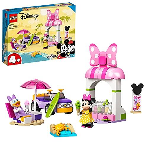 LEGO 10773 Mickey and Friends Heladería de Minnie Mouse Coche de Juguetes para Niños y Niñas +4 Años