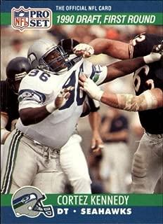 1990 Pro Set Football Rookie Card #671 Cortez Kennedy