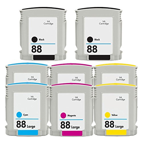 ESTON 8 PACK (2K 2C 2M 2Y) High Yield Ink Cartridge Replacement for 88XL 88 XL
