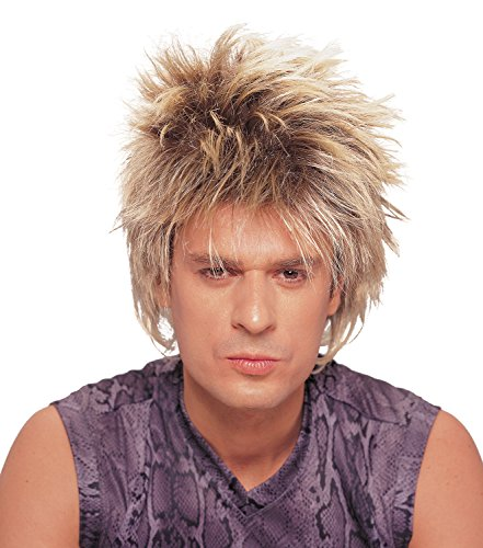 Costume Culture Men's Rocker Unisex Short Rocker Wig, Mixed Blonde, One Size