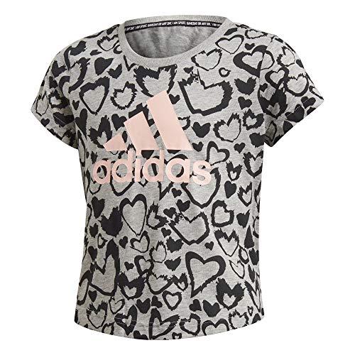 adidas - Fitness-Longsleeves für Mädchen in Mgreyh/Black/Hazcor, Größe 164
