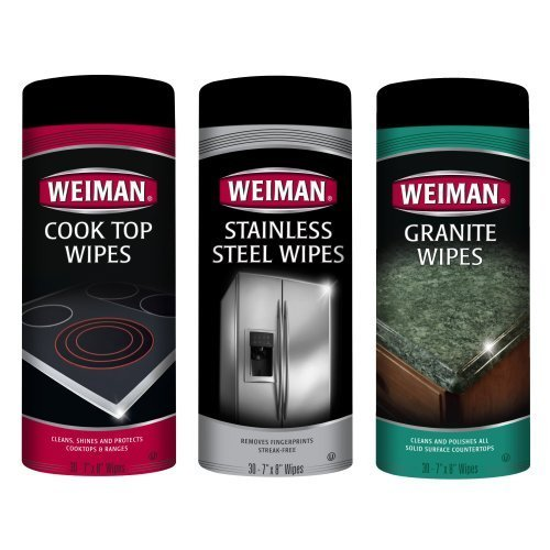 Weiman Cook Top, Stainless Steel & Granite Kitchen Cleaner 3 Pc Kit