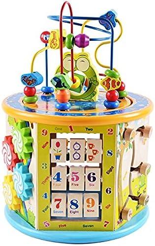 Unbekannt FEI Babyspielzeug Multifunktions-Perlen Schatzkiste Kinder Puzzle Perlen Holzspielzeug für 1-4 Jahre alt Frühe Erziehung
