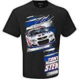 2016 NASCAR Tony Stewart #14 Mobil One Slingshot Adult T-Shirt (Medium) Black