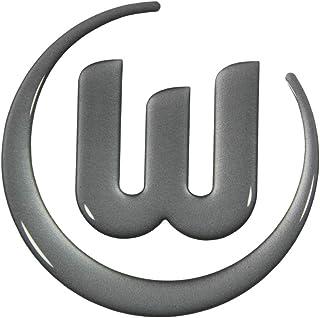 VfL Wolfsburg Autoaufkleber Logo 3D Silber