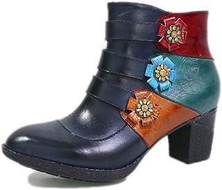 Moda Handmade delle Donne Stivali di Pelle Tacco Alto Autunno E l'inverno dei Bottini Caldi Casuale Comfy Esterna Antisciv...