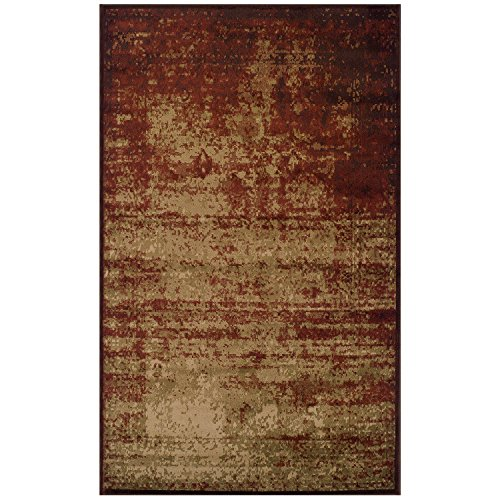 SUPERIOR Afton 4' x 6' Slate Area Rug, Contemporary Living Room & Bedroom Area Rug, Anti-Static and Water-Repellent for Residential or Commercial use