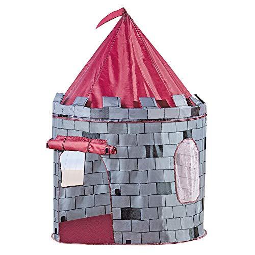 Bino Spielzelt Burg, Zelt für Kinder ab 3 Jahre, Kinderspielzeug (Kinderzelt in Burg Design, drinnen & draußen nutzbar, leichter Auf-& Abbau, Kinderzimmer Zubehör, Größe: 105 x 105 x 125 cm)