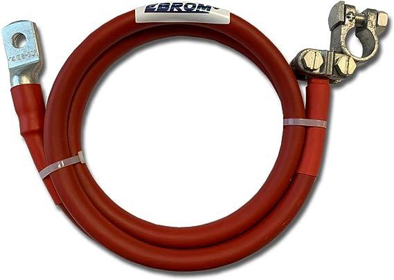 Ebrom Batteriekabel Kfz Kabel Mit Polklemme Anschluss Links 50 Mm Rot Fertig Konfektioniert Schrumpfschlauch Ab 30 Cm Bis 2 Meter Ringösen Kabelschuhe M6 M8 M10 M12 Ohne 50mm2 50 Mm2 Baumarkt