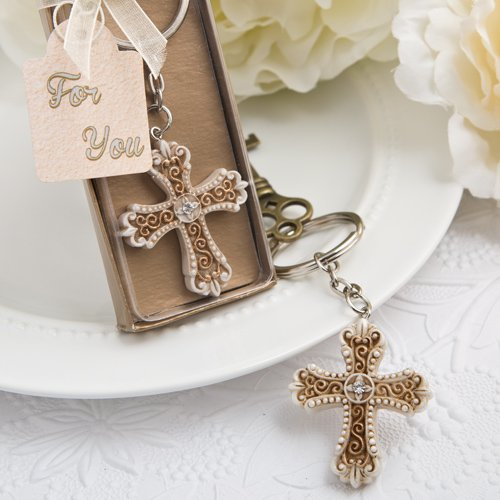 50 Vintage Design Cross Themed Key Chain