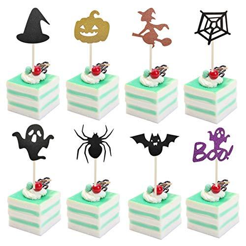 Rehomy 8 piezas de decoración para tartas con temática de Halloween para decoración de tartas de todos los santos