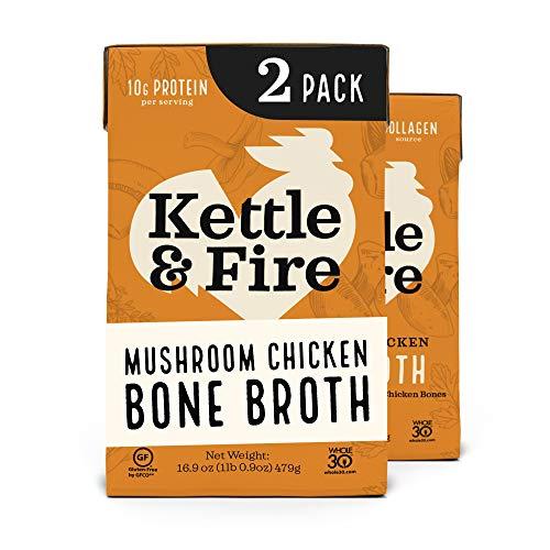 Mushroom Chicken Bone Broth by Kettle and Fire | Amazon