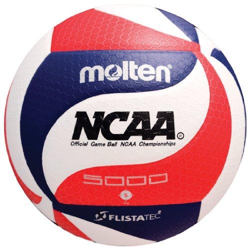 Molten FLISTATEC Volleyball - Offizieller NCAA Herren Volleyball, Rot/Weiß/Blau