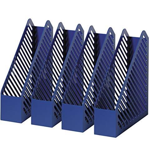 helit h6361234 Range-revues Grille Structure, DIN A4, polystyrène, bleu