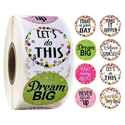 500 Pcs Confetti Positive Sayings Accents Stickers for Students Teachers Classroom Use Kids Toys Sticker Phone Diary Laptop