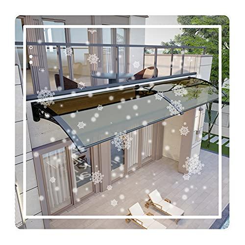 QIANDA Policarbonato Marquesina de Puertas, Exterior Toldo Protección UV Lluvia Nieve Resistente Marquesinas por Patio Interior Residencial Puerta (Color : Brown, Size : 80x150cm)