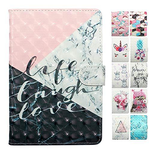 Coeyes Funda compatible con tablet Samsung Galaxy Tab S2 de 9,7 pulgadas T810N T815N T813N T819N Flip Cover de cuero con ranura para tarjeta de bolsillo de silicona – Tricolor mármol