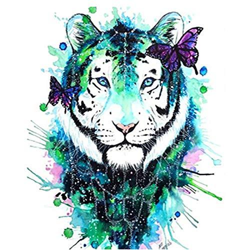 Tiger Diamond Pintura Pintura 5d Diamond Regalos Herramienta de Bricolaje Kits por Completo Alrededor del Cuadrado del Rhinestone Arte Kit for Adultos Amigos de la Familia Niños Artesanía de Cubierta