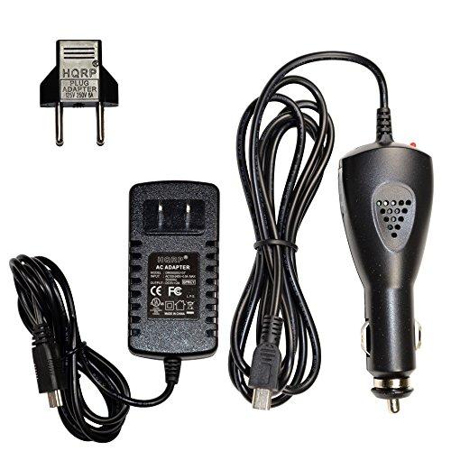 HQRP Ensemble: Adaptateur secteur + Chargeur 12V CC pour Magellan RoadMate 5045T-EU/5120-LMTX/5145T-LM/5175T-LM/5202-LM/5250T-LM/6220-LM GPS