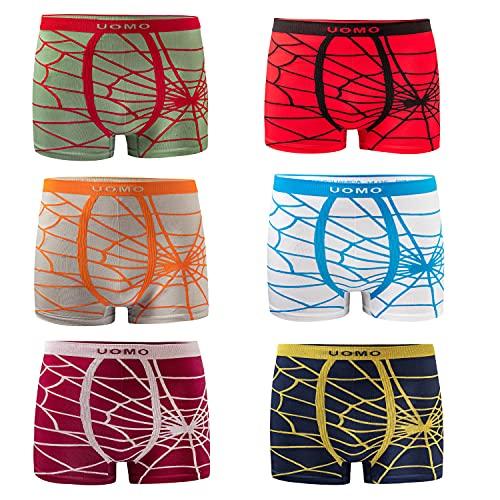 UOMO JuupiiSale Jungen Boxershorts Kinder Retroshorts Microfaser Unterhosen Schlüpfer Boxershorts Boxershorts (164/176, 6er Pack)