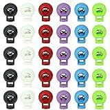 LYTIVAGEN 60 PCS Cierres de Cordón, Multicolor Cierre de Cuerda Plásitico, Cordón Tope Redondo con Resorte para Mochila, Ropa, Deportes, Senderismo, Acampada