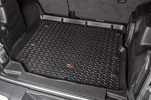 Rugged Ridge 12975.49, All Terrain Floor Liner, Cargo, Black, 2018-current Jeep Wrangler JL 4 Dr
