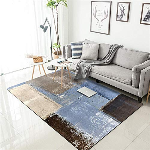 WQ-BBB Super Soft rugs bedroom Simple abstract art style cheap carpet black gray blue brown dosen't shed soundproof Rug 60X90cm