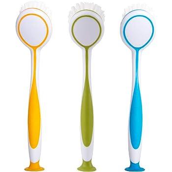 Assorted Colors Set of 6 Unknown Ikea 301.495.56 Plastis Dishwashing Brush