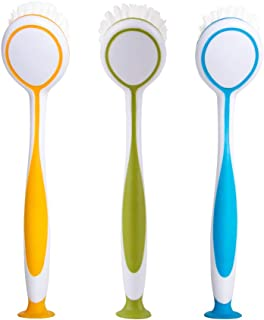 MR. SIGA Round Dish Brush, Size: Dia 5.5 x 25cm - Set of 3