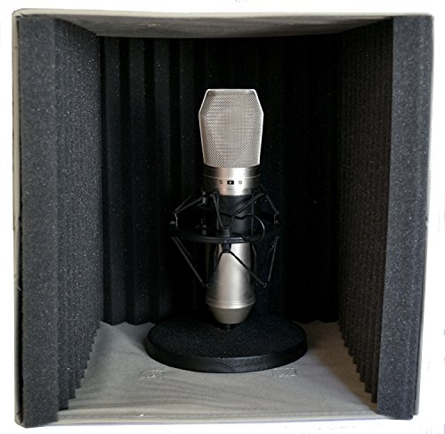 Vocal Booth by VBX - Acoustic Foam Portable Recording Studio - Microphone Sound Isolation Reflection Filter - for Podcast - USB Microphones - Desktop Recording - Vocal Sound Recording