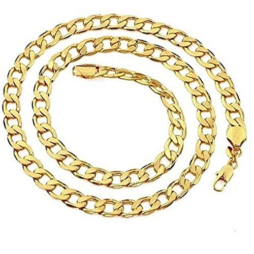 Collar Hop Nueva 6mm Cubana Cadena De Acoplamiento del Collar del Oro De Los Hombres Pulsera 20/45/50/55/60/65/70 / 75cm De Cadena del Encintado De La Cadera Hombres Joyería