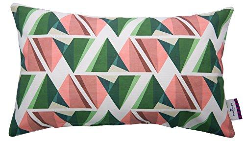 TOM TAILOR T-Modern Graphics Kissenhülle, Baumwolle, grün/Koralle, 30 x 50 cm