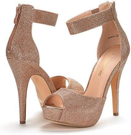 Burgundy high heel shoes _image3