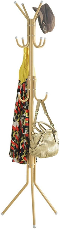 ZJ-Coat rack Hanger Carbon Steel Coat Rack Fashion Hanger Creative Hanger Size  173x45x45cm && (color   Metallic)
