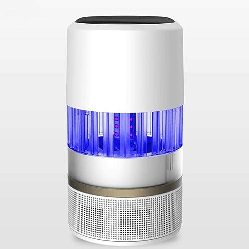 Électrique Choc Maison Chambre éclairage Silencieux Moustique Lampe Mère Et Bébé Moustique Tueur 360 Degrés Grande Zone Piège Bleu (Couleur   Blanc, Taille   140  140  255mm)