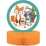 Creative Party 344411 Wild One Woodland Animals Mesa de Centro (1 Unidad), Multicolor