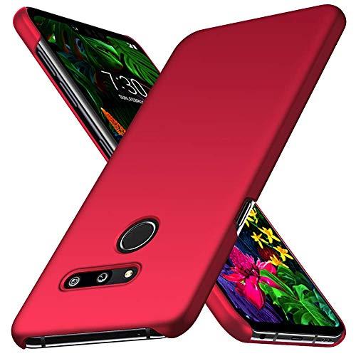 FanTings Capa para celular LG G8 ThinQ, [ultrafina] [antiqueda] [sensação de seda] Capa protetora de policarbonato rígida para LG G8 ThinQ-Red