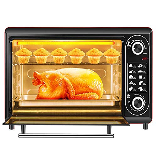 Multifunction Convection Countertop Toaster Oven,48L Large Capacity Intelligent Timing Temperature Control, Includes Bake Pan, Broil Rack,Stainless Steel