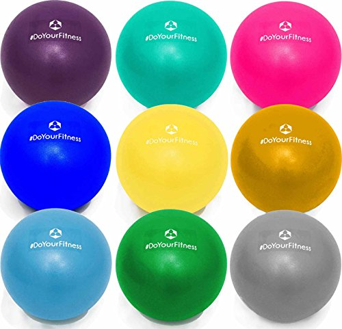 #DoYourFitness Mini Palla per Pilates »Balle« 18cm / 23cm / 28cm Palla miofasciale per Combattere tensioni e dolori muscolari, Disponibile in tantissime Dimensioni e Colori: Azzurro / 18cm
