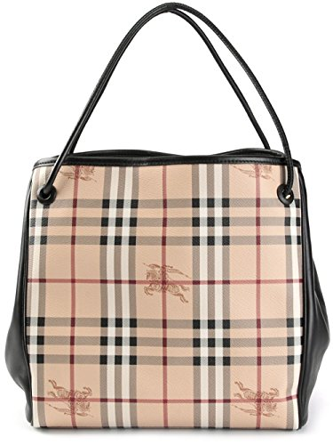 Burberry Haymarket Knots Small Canterbury Tote - Black