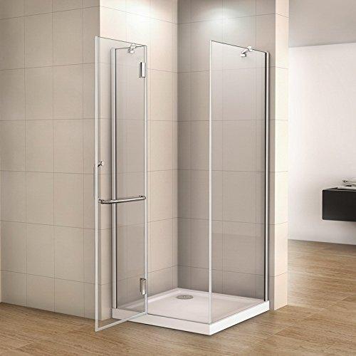 100 X 80 X 190 Mampara de ducha 8 mm Easy Clean Cristal de ...